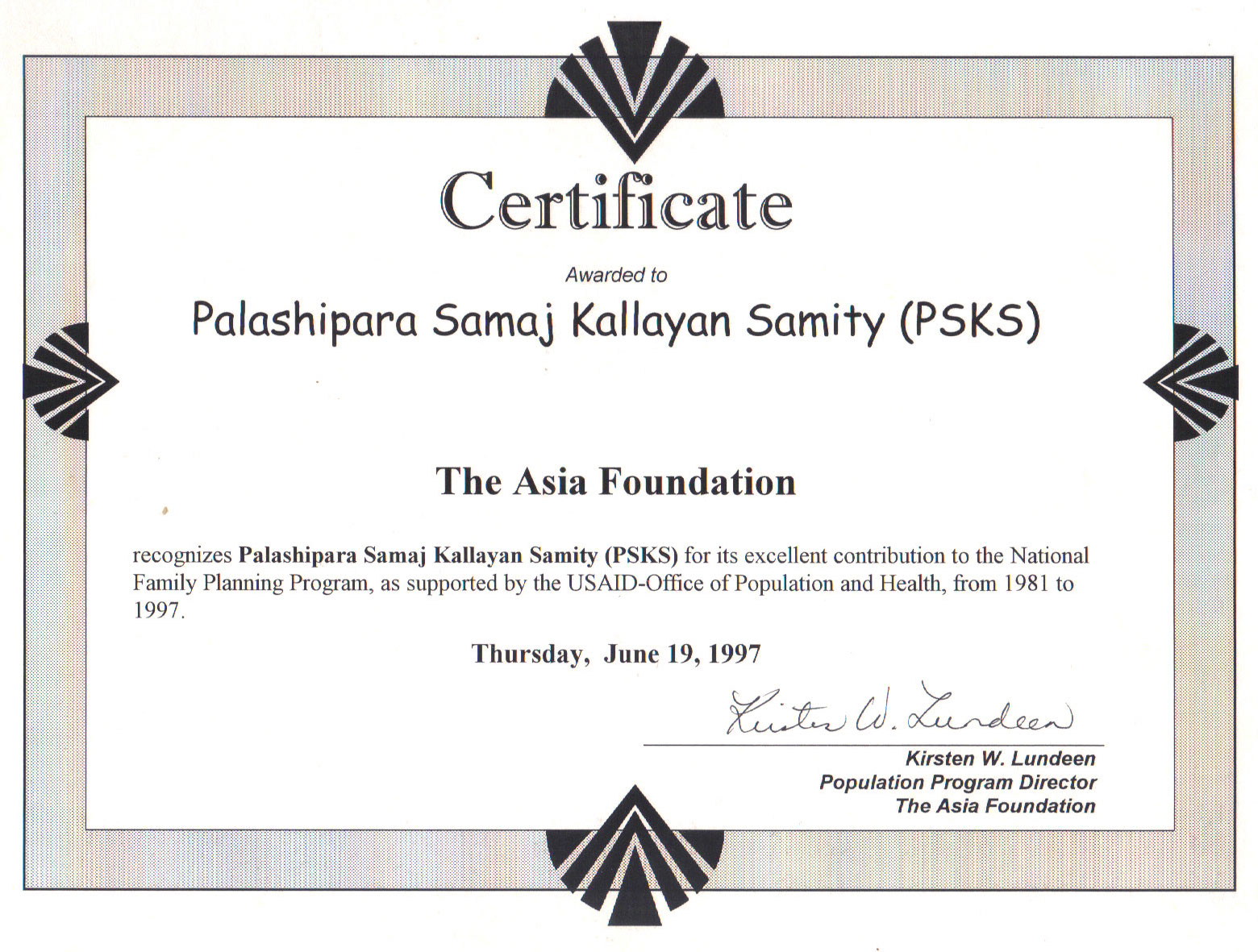 The-Asia-Foundation-Experience-Certificate